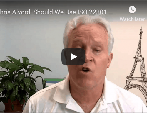 Chris Alvord: Should We Use ISO 22301 as a BCM Standard?